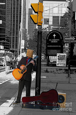 Photograph - Anonymous Guitar Player by Nina Silver