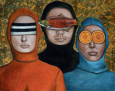 Threesome Painting - Anonymous by Leah Saulnier The Painting Maniac