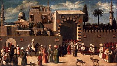 Damascus Painting - Anonymous Venetian Orientalist Painting by Eastern Accents