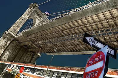 ...another Angle Of Brooklyn Bridge... Art Print by Arkadiy Bogatyryov