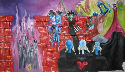 Fleurant Painting - Another Brick On The Wall by JaFleu