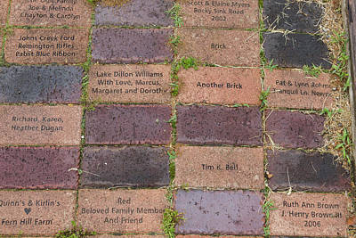Fundraiser Photograph - Another Brick by Teresa Mucha