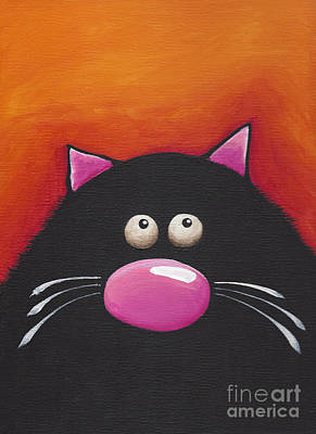 Fat Cat Wall Art - Painting - Another Chilling Cat by Lucia Stewart