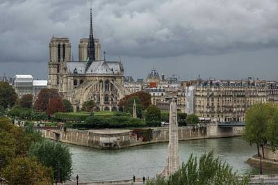 Photograph - Another Cloudy Day In Paris - 1 by Hany J