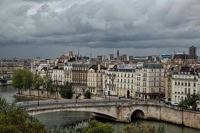 Photograph - Another Cloudy Day In Paris - 2 by Hany J
