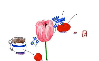 Painting - Another Coffee Mornin G by Debbi Saccomanno Chan