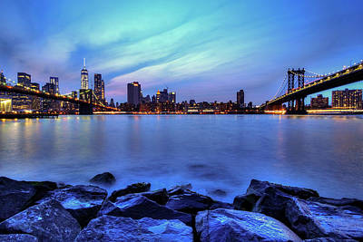 Another Day Comes To A Close In Nyc Art Print by Daniel Portalatin