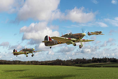 Photograph - Another Day Hurricanes Scramble Cropped by Gary Eason