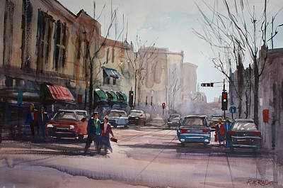 Impressionism Paintings - Another Day in Fond du Lac by Ryan Radke