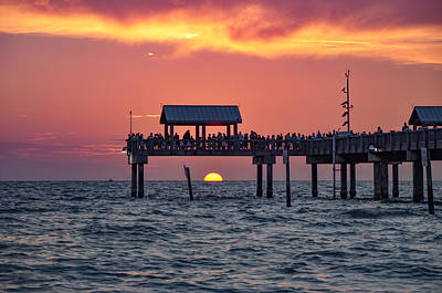 St. Petersburg Photograph - Another Day In Paradise On Clearwater Beach by Bill Cannon