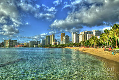 Photograph - Another Day In Paradise Waikiki Beach Sunset Hawaii Collection Art by Reid Callaway