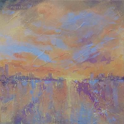 Big Skies Painting - Another Dimension by Laura Lee Zanghetti