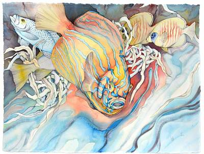 Bekman Wall Art - Painting - Another Fish Dimension by Liduine Bekman