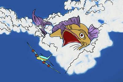 Digital Art - Another Fish Story by John Haldane