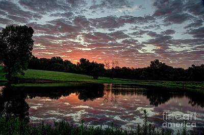 Photograph - Another Glorious Kansas Sunrise by Jean Hutchison