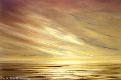 Painting - Another Golden Sunset by Gina De Gorna