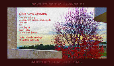 Mixed Media - Another Leafless Fall by Robert J Sadler