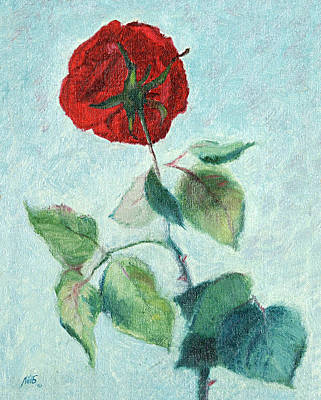 Painting - Another Look At A Rose by Masha Batkova