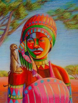 Painting - Another Meerkat Sentry by June Walker