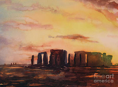 Painting - Another Night At Stonehenge by Ryan Fox