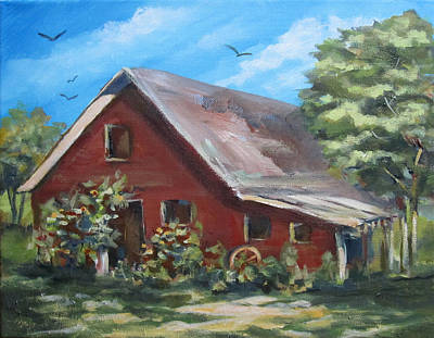 Painting - Another Old Barn by Carol Hart
