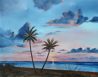 Another Paradise Sunset Art Print by Lloyd Dobson