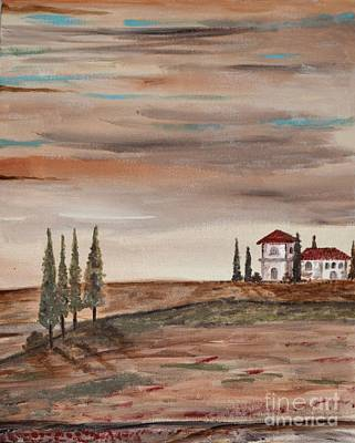 Tuscan Sunset Painting - Another Part Of The Sunset by Anabelle Acevedo-Marcano