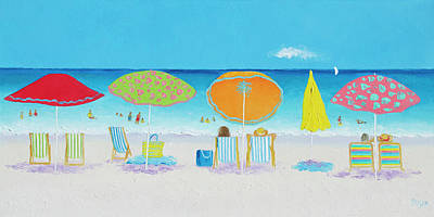 Impressionism Paintings - Another Perfect Beach Day by Jan Matson