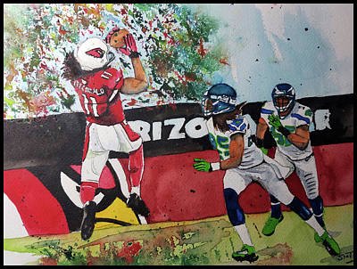 Az Cardinals Painting - Another Sunday At The Office by Fred Smith