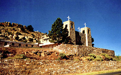 Church On The Hill Photograph - Another View Of Church In New Mexico by Ruth Housley