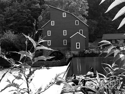 Photograph - Another View Of Red Mill In B/w by Jacqueline M Lewis