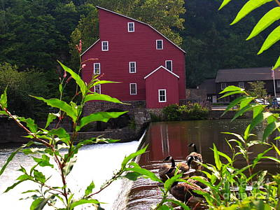 Photograph - Another View Of Red Mill by Jacqueline M Lewis
