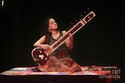 Photograph - Anoushka Shankar Painting by Concert Photos