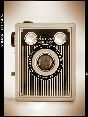 Vintage Camera Wall Art - Photograph - Ansco Shur Shot by Mike McGlothlen