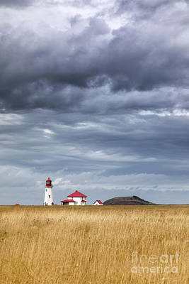 Photograph - Anse A La Cabane Lighthouse On The Magdalen Islands by Jane Rix