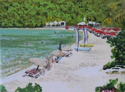 Painting - Anse Marcel by Margaret Brooks