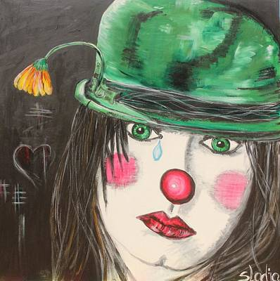 Art Print featuring the painting Ansichten Eines Clowns by Sladjana Lazarevic