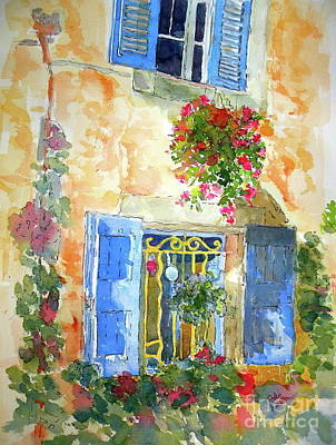 Ansouis Windowbox Art Print