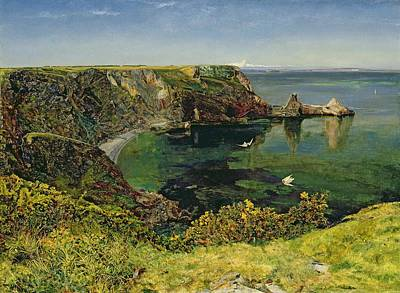 Fishing Village Painting - Anstey's Cove In Devon by John William Inchbold