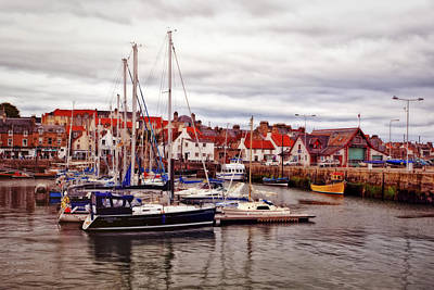 Sailboats Photograph - Anstruther Harbor Fife by Marcia Colelli