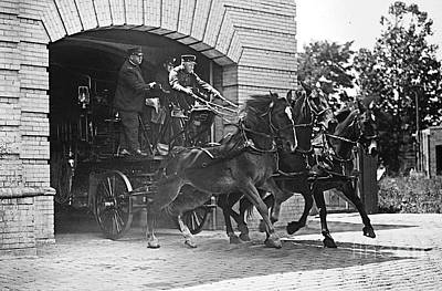 First Responders Photograph - Answering The Call 1922 by Padre Art
