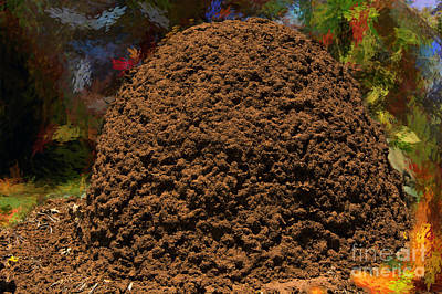 Ant Hill Art Print by Morris Keyonzo