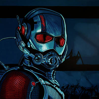 Shield Painting - Ant Man Painting by Paul Meijering
