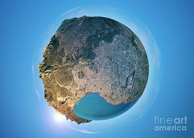 Antalya 3d Little Planet 360-degree Sphere Panorama Art Print by Frank Ramspott
