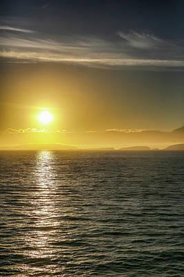 Photograph - Antarctic Sunrise by John Haldane