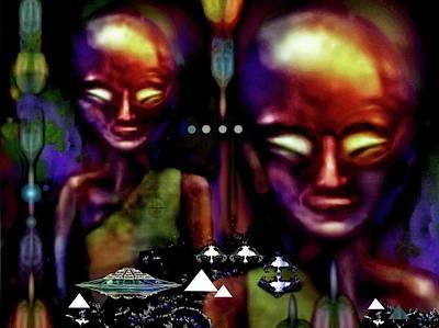 Digital Art - Antarctica Aliens ?  by Hartmut Jager