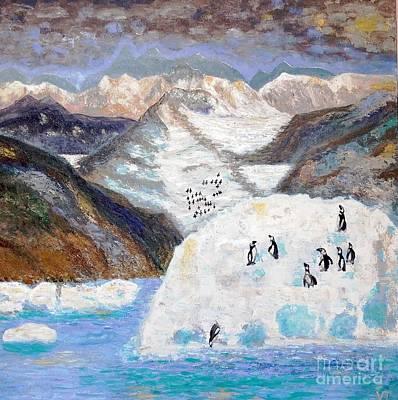Painting - Antarctica1 by Vicky Tarcau