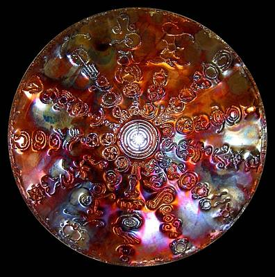 Sculpture - Antares Copper Lightmandala by Robert Thalmeier