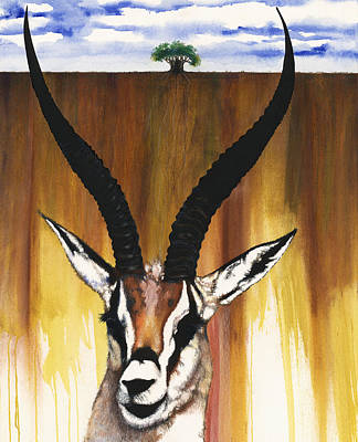 African-american Mixed Media - Antelope by Anthony Burks Sr