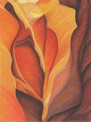 Pastel - Antelope Canyon 1 by Anne Katzeff